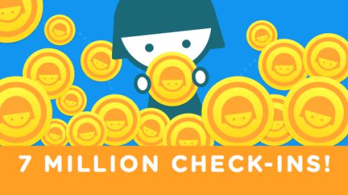 swarm registra 7 millones de check ins en un solo dia Swarm registra 7 millones de check ins en un solo día