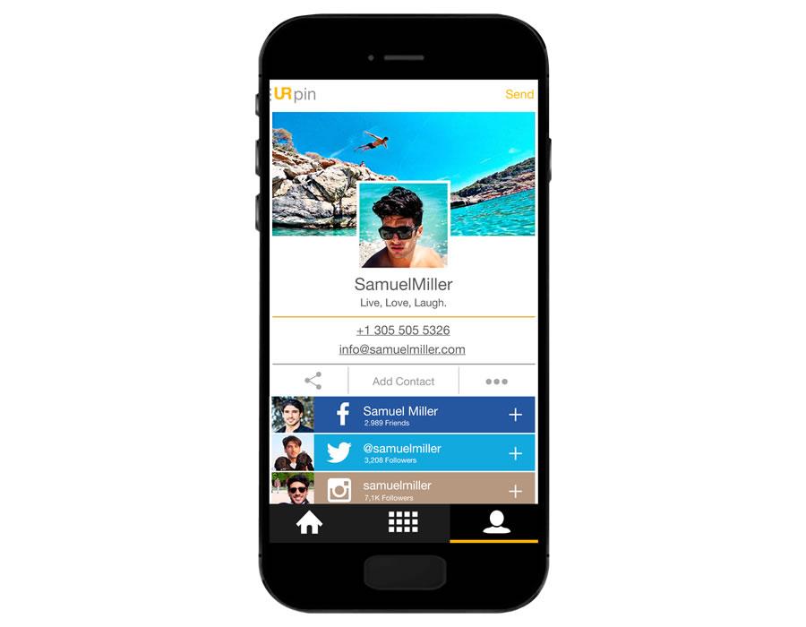 URpin, la app para tener tu información personal y redes sociales en un solo lugar - urpin-profile