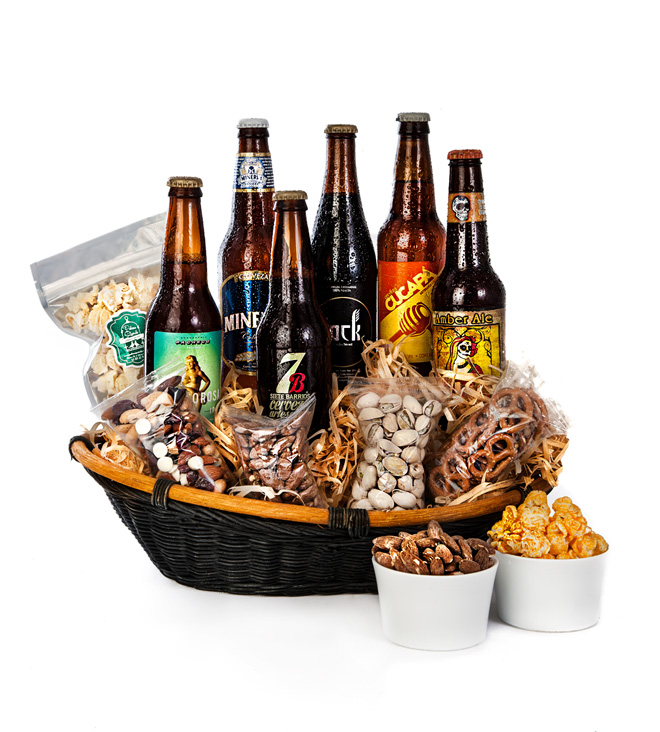 Descuentos en cervezas y flores en El Buen Fin con Azap Flores y regalos - canasta-de-cervezas-artesanales-mexicanas