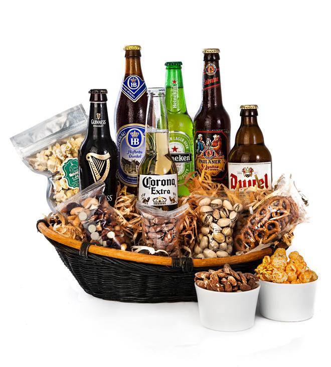 Descuentos en cervezas y flores en El Buen Fin con Azap Flores y regalos - canasta-de-cervezas-internacionales-azap-flores
