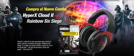 HyperX presenta Cloud II Edición Limitada Rainbow Six Siege