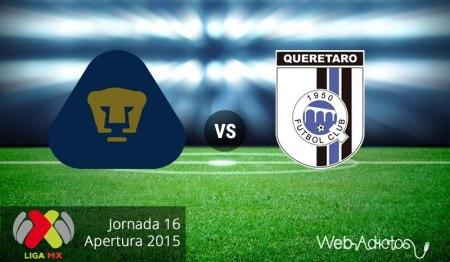 Pumas vs Querétaro en el Apertura 2015 | Jornada 16