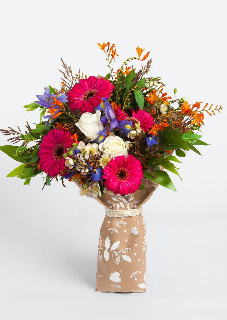 Descuentos en cervezas y flores en El Buen Fin con Azap Flores y regalos - ramo-rosas-gerberas-iris-colores-dolar-flores-a-domicilio
