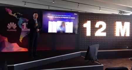 Huawei celebra la venta de 12 millones de smartphones en America Latina