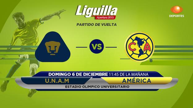 pumas vs america en vivo semifinal apertura 2015 Pumas vs América, Semifinal del Apertura 2015 | Partido de vuelta