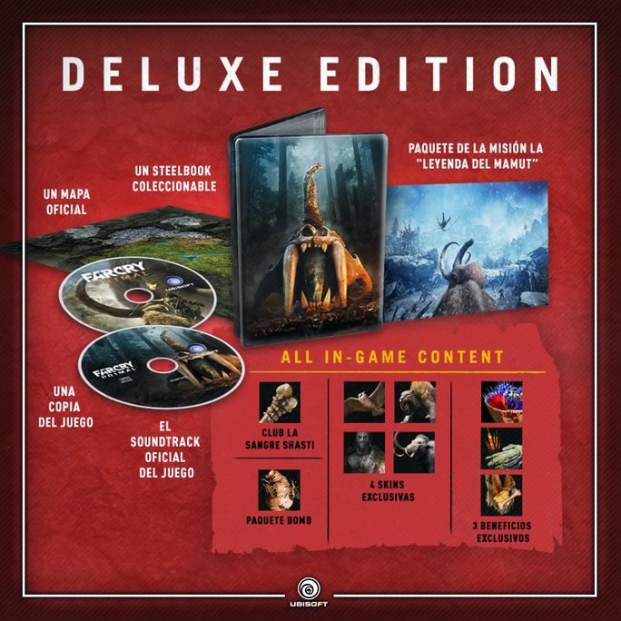 Far Cry Primal edición deluxe llegará a México - far-cry-primal-deluxe-edition