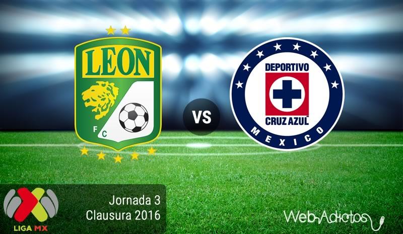 León vs Cruz Azul, Fecha 3 del Clausura 2016 en la Liga MX - leon-vs-cruz-azul-clausura-2016