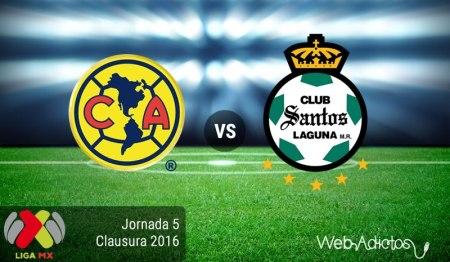 América vs Santos, Liga MX Clausura 2016 ¡En vivo por internet!
