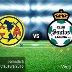 América vs Santos, Liga MX Clausura 2016 ¡En vivo por internet!   Jornada 5