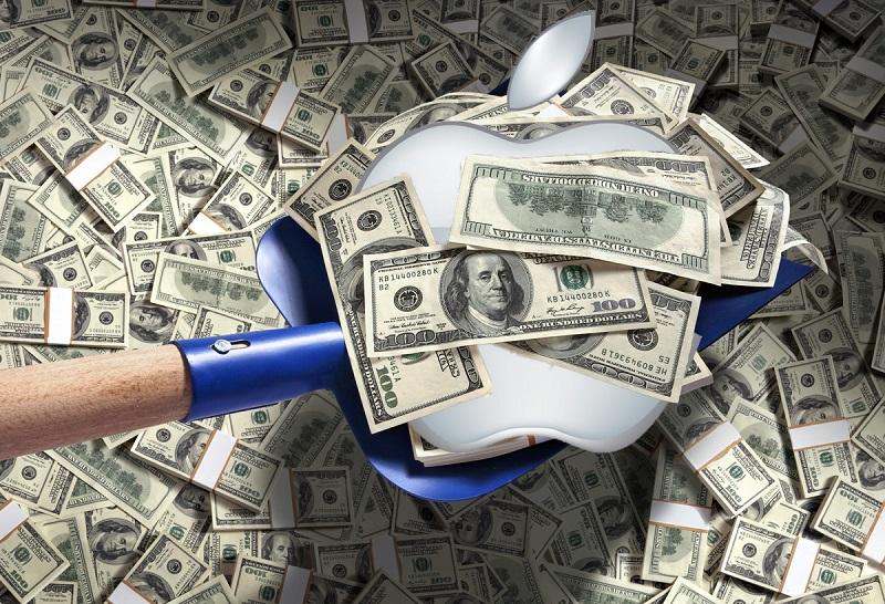 Apple deberá pagar 625 mdd por violación de patentes - apple-money-800x546