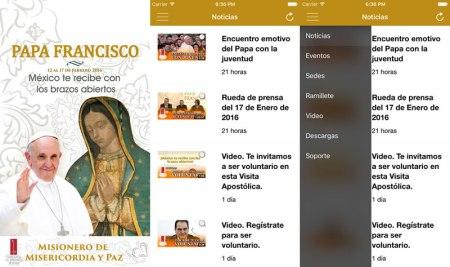 Con el Papa, la app oficial de la visita del Papa a México