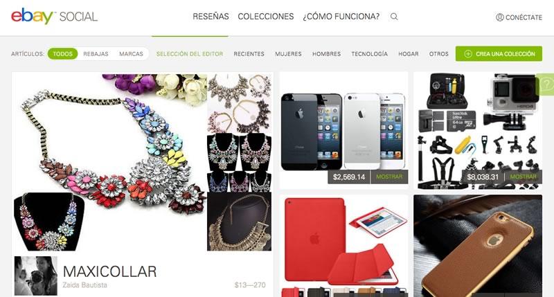 eBay social, la nueva plataforma de eBay - ebay-social