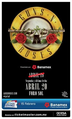 Guns and Roses anunció nueva fecha en México - guns-and-roses-segunda-fecha-en-mexico