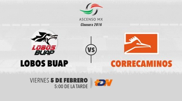 Lobo BUAP vs Correcaminos, Ascenso MX C2016   Jornada 5 - lobos-buap-vs-correcaminos-por-tdn-clausura-2016