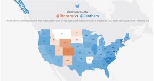 Sigue de cerca el Super Bowl a través de Twitter - mapa-de-twitter-nfl