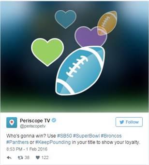 Sigue de cerca el Super Bowl a través de Twitter - periscope-nfl