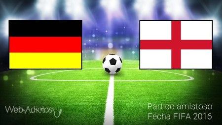 Alemania vs Inglaterra, Partido Amistoso 2016   Resultado: 2-3