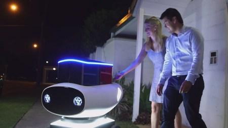 Domino's enseña el primer robot repartidor de pizza