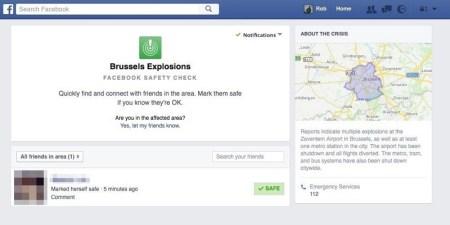 """Facebook vuelve a hacer uso del """"Safety Check"""" tras los atentados de Bruselas"""