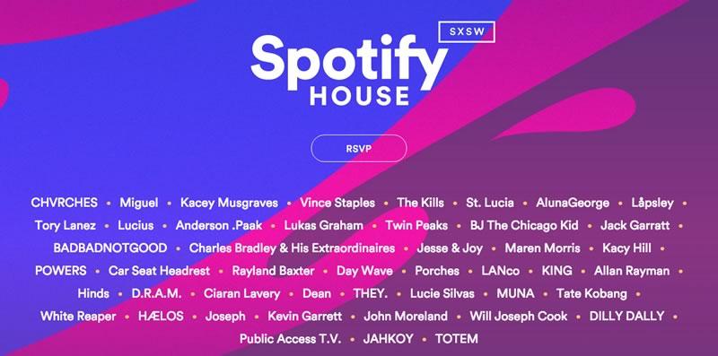 Spotify anuncia el line-up del SXSW 2016 - spotify-sxsw-line-up