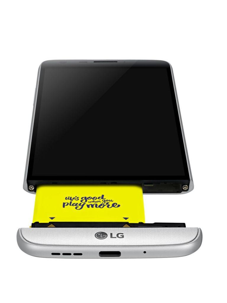LG G5 comenzará su distribución en mercados clave - LG-G5-Silver-Modular-Type