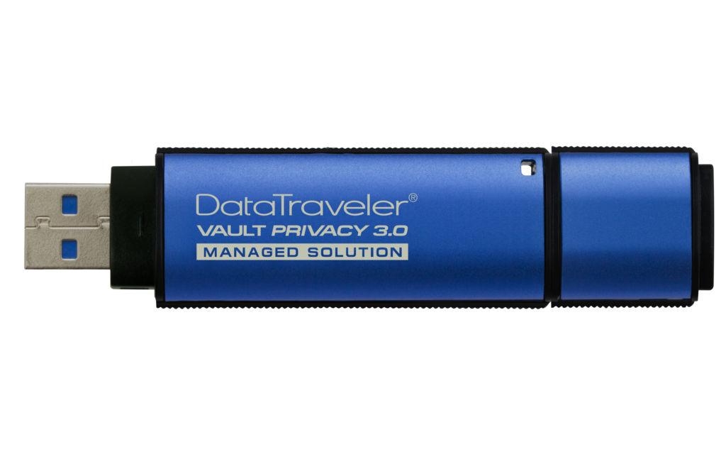 Kingston lanza dispositivos USB Flash encriptados por hardware con administración - dtvp30dm