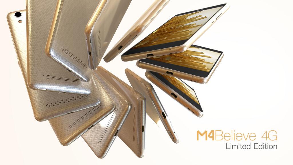 M4 presenta nuevo smartphone Believe - m4-gold-believe