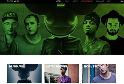 Razer Music anuncia que deadmau5 da el primer adelanto de su nuevo estudio y videos - razer-music-deadmau5