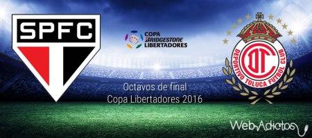 Sao Paulo vs Toluca, Octavos de Libertadores 2016 | Resultado: 4-0