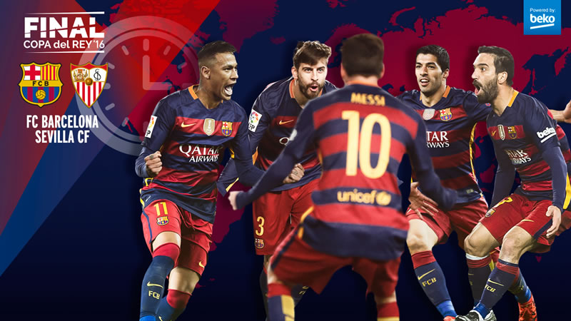A qué hora juega Barcelona vs Sevilla la final de Copa del Rey 2016 y en qué canal se transmite - horario-barcelona-vs-sevilla-final-copa-del-rey-2016