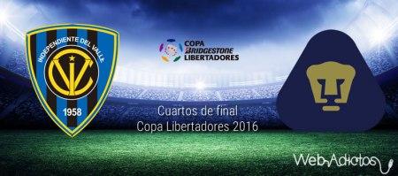 Independiente del Valle vs Pumas, Libertadores 2016 | Resultado: 2-1