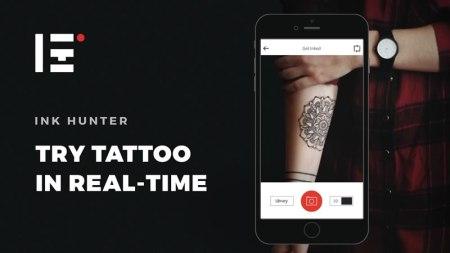 Ink Hunter, un simulador de tatuajes que usa realidad aumentada