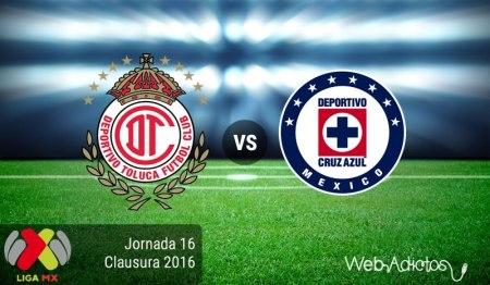 Toluca vs Cruz Azul, Jornada 16 del Clausura 2016 ¡En vivo por internet!