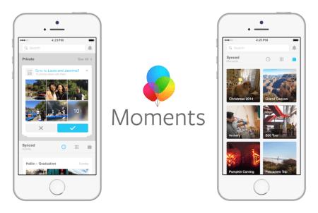 Facebook borrará fotos sincronizadas de manera privada sino se instala Moments