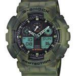 Camouflage serie G-Shock, diseño marmoleado en la que ninguna pieza es idéntica - ga-100mm-3a
