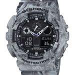 Camouflage serie G-Shock, diseño marmoleado en la que ninguna pieza es idéntica - ga-100mm-8a_jf_dr