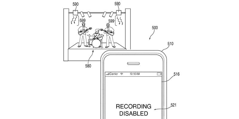 Apple registró patente para bloquear la toma de fotos y videos en conciertos - ir-800x400