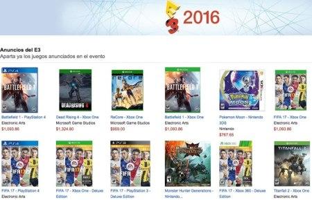Compra los juegos del E3 2016 en la preventa de Amazon México
