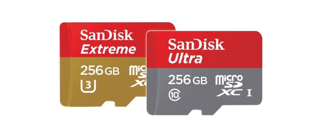 Lanzan tarjetas microSD Extreme y Ultra de 256 GB - tarjetas-sandisk-extreme-ultra