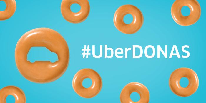 Uber celebra el día de la Dona y te lleva #Uberdonas de krispy cream - uberdonas