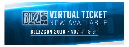 Boleto Virtual de BlizzCon 2016 ¡Ya disponible!