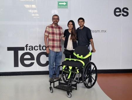 Estudiantes mexicanos diseñan silla de ruedas estabilizadora que previene llagas