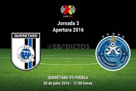 Querétaro vs Puebla, Jornada 3 del Apertura 2016 | Resultado: 2-1