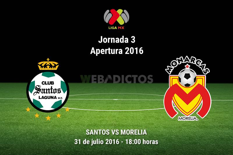 Santos vs Morelia, J3 del Apertura 2016   Resultado: 2-4 - santos-vs-morelia-apertura-2016