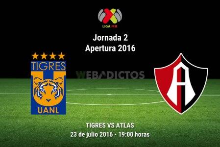 Tigres vs Atlas, Jornada 2 del Apertura 2016 ¡En vivo por internet!