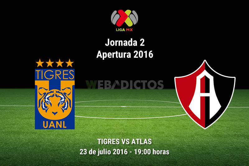 Tigres vs Atlas, Jornada 2 del Apertura 2016   Resultado: 0-0 - tigres-vs-atlas-apertura-2016