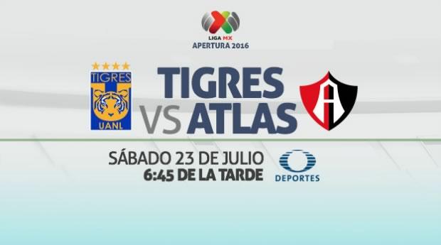 Tigres vs Atlas, Jornada 2 del Apertura 2016 | Resultado: 0-0 - tigres-vs-atlas-en-vivo-apertura-2016