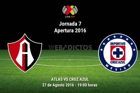 Atlas vs Cruz Azul, J7 del Apertura 2016 ¡En vivo por internet!