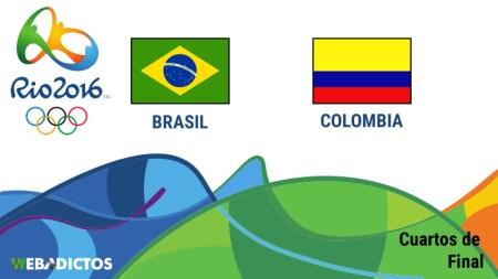 Brasil vs Colombia, Cuartos de final en Río 2016   Futbol varonil