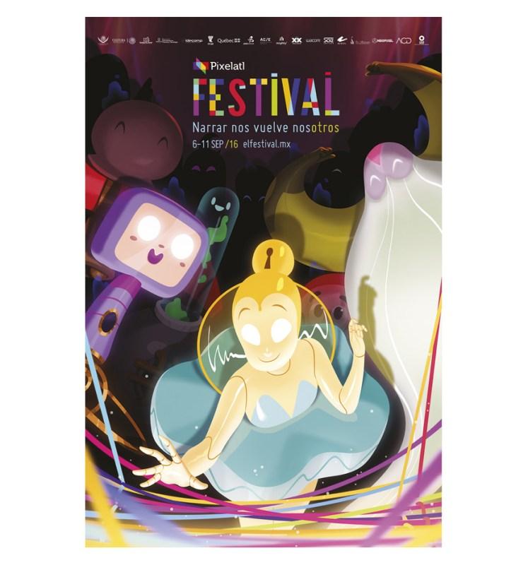 Anuncian quinta edición del Festival Pixelatl: animación, Videojuegos y cómic - cartel-festival-pixelatl-747x800